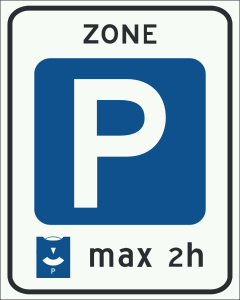Dutch Parking Zone sign